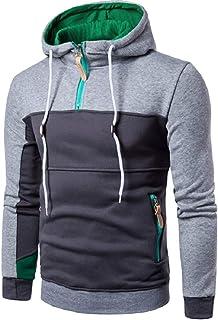 HX fashion Abbigliamento Uomo Mante Patchwork MOD Langar Tinta Unita Pullove Taglie Comode Cerniera Mante Colletto Rialzat...
