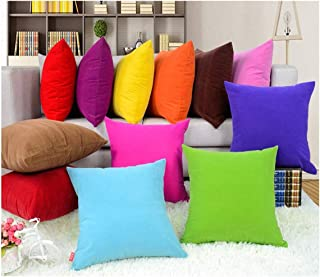 Coliang Throw Pillow Case, Colorful Multi-Color Optional Soft Plain Cushion Solid Pillow Sofa Cushion Office Cushion Pillow Cover 40x40CM(No Insert) - Yellow