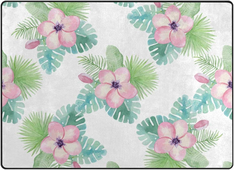 FAJRO Different Leaves Small Pink Flowers Polyester Entry Way Doormat Area Rug Multipattern Door Mat Floor Mats shoes Scraper Home Dec Anti-Slip Indoor Outdoor