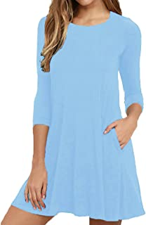 light blue womens dress
