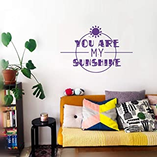 Black Panther Stickers for Wall You are My Sunshine for Living Room Nursery Kids Room Baby Room Couple Room