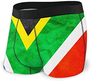 Guangzhourongluanshangma Bahamas Flag Men's Sexy Boxer Briefs Comfortable and Breathable