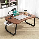 Highger Lap desks for Laptop and Writing with Light and Fan,Bed Table Lap Bed Tray with Storage Drawer,USB Port and Cup Holder,Laptop Stands Tray for Breakfast and Reading