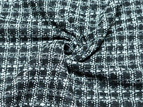 Boucle Tweed Schwere Coat Gewicht Kleid Stoff, Meterware, Schwarz