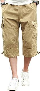 Cargo Shorts Hombres Pantalones Cortos de Algodón Leisure Casual