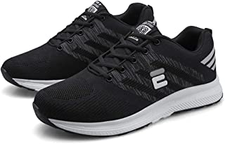 AUCDK Men Breathable Sneakers Low Top Mesh Sports Shoes Casual Shock Absorbing Athletic Trainers