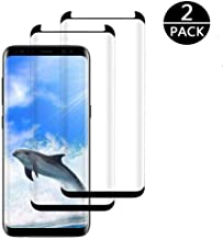 [2 Pack] Galaxy S8 Screen Protector,Full Coverage High Definition Anti-Scratch 3D Curved Tempered Glass Screen Protector for Samsung S8