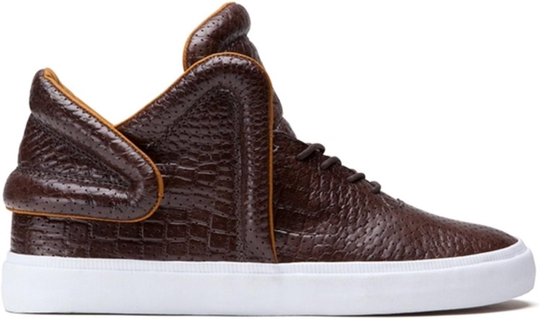 Supra Men's Falcon Brown Croc White Sneaker Men's 9.5, Women's 11 D (M)