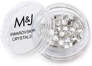 Swarovski Crystals Flat Back Rhinestones - 2088 Xirius Rose Round Foil Backed (SS12, Crystal)