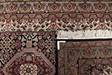 Nain Trading Indo Täbriz 305x84 Orientteppich Teppich Grau/Dunkelbraun Handgeknüpft Indien - 2