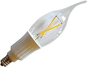 E12 Low Voltage 12V AC/DC 2W 200 Lumens Filament Candelabra LED, COBB Chips 20W Replacement (Warm White 2700K)