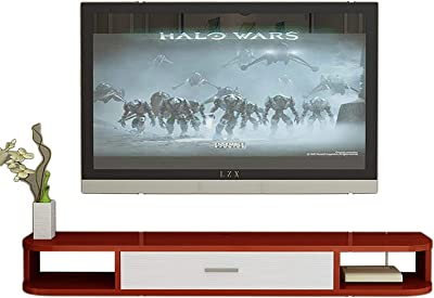 TV Cabinet, TV Lowboard, Floating Shelves, Wall Mounted TV Media Console, 80/100/120/140/160CM Four Color Panel, Modern Floating TV Stand Shelf, for Living Room and Bedroom.
