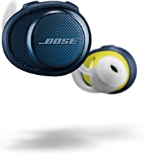 Bose SoundSport Free, True Wireless Sport Headphones, (Sweatproof Bluetooth Headphones for Workouts), Midnight Blue with Citron