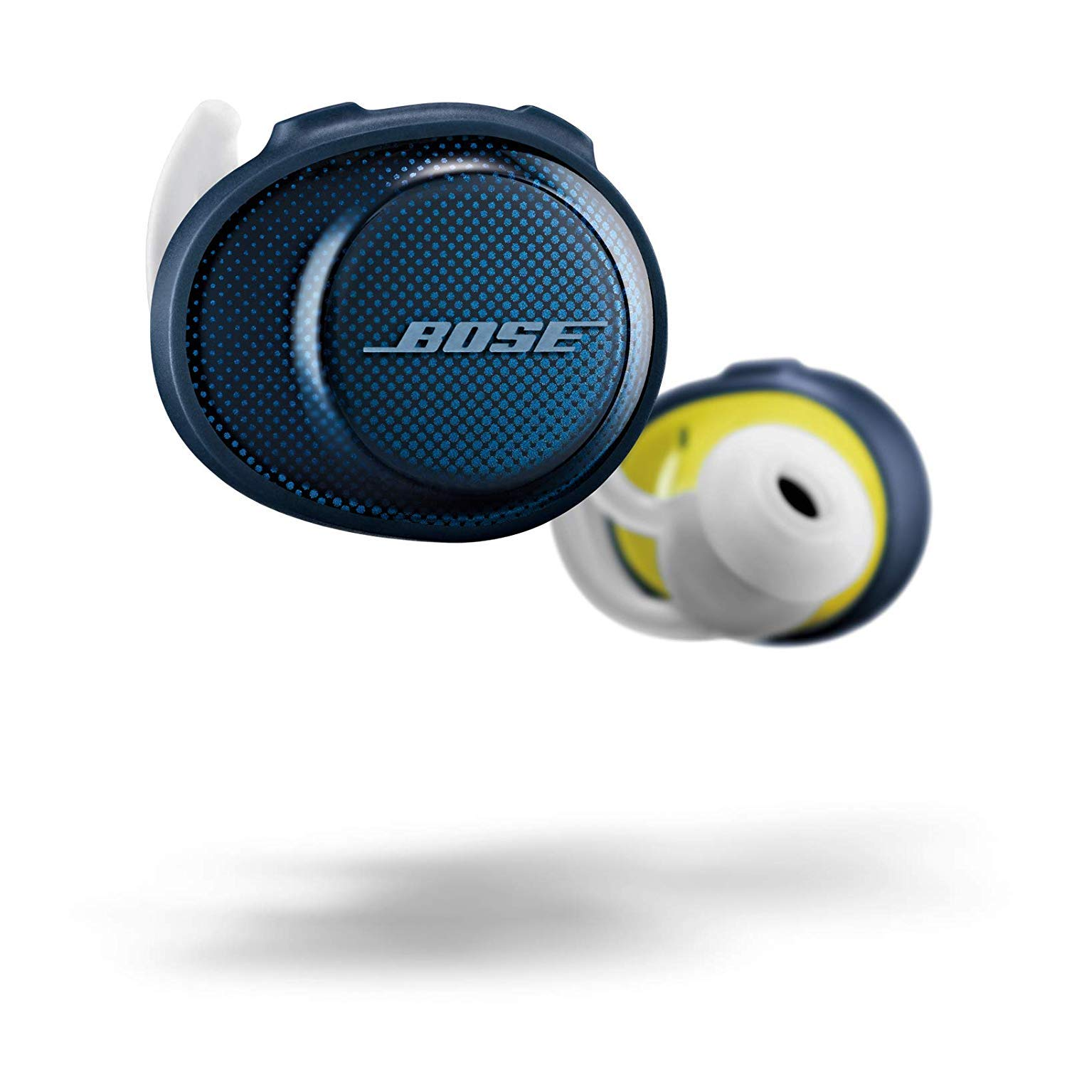 Amazon Com Bose Soundsport Free True Wireless Earbuds Sweatproof Bluetooth Headphones For Workouts And Sports Midnight Blue Citron Electronics