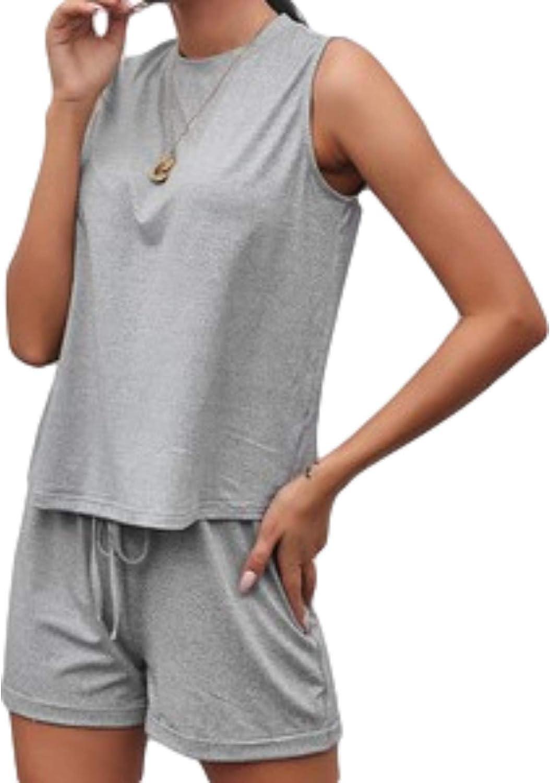 Women's Solid Color Vest Shorts Suit Simplicity Fashion Casual Sports