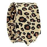 Schmale Krawatte Leopard