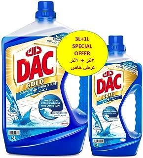 Dac Disinfectant Gold Ocean Breeze 3 liter + 1 liter - Pack of 2