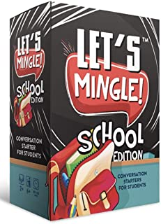 Let's Mingle Conversation Starters School Edition   Classroom Learning   Distance Learning Game   Games For Kids Ages 4-8-...