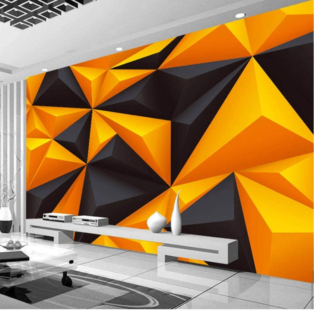 Clhhsy Custom Mural 3D Triangle Geometric sale Charlotte Mall Stereoscopic Abstract