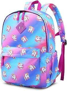 على ظهره لمدرسة كيد حقائب تحمل على الظهر حقيبة الكتب للبنين والبنات (16inch يونيكورن)