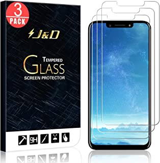 J&D Compatible for 3-Pack BLU Vivo One Plus 2019 Glass Screen Protector, [Tempered Glass] [Not Full Coverage] Ballistic Glass Screen Protector for BLU Vivo One Plus (Release in 2019) Screen Protector