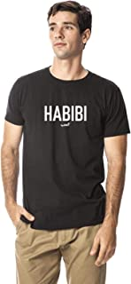 Santhome 180 gsm Habibi Cotton Round Crew Neck Tshirt for Men