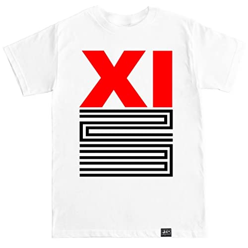 b55ceb8ed59c FTD Apparel Men s Retro 11 XI Red 23 Breds white T shirt