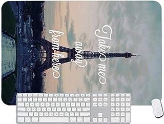 Gaming Mouse Padhermosa Linda Torre eiffelComputadora de Escritorio y portátil, Paquete de 1 600x400x3mm / 23.6x15.7x1.1 in