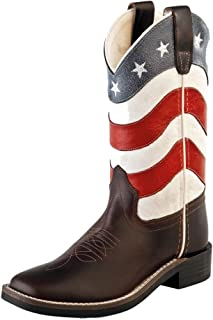 Old West Kids BootsユニセックスSquare Toe W/シャフト(Big Kid)