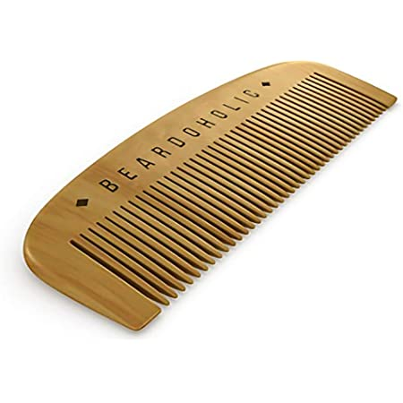 Beardoholic Beard Comb With a Gift Box – Wide Teeth – Anti-Static, Eliminates Tangles and Keeps Your Beard Neat and Tidy – 5.31 x 1.96 IN Handmade 100% Pearwood Design