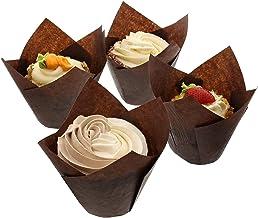 أكواب الخبز Reynolds Brown Tulip Muffe/Cupcake Style ، مقاس كبير، كم 150