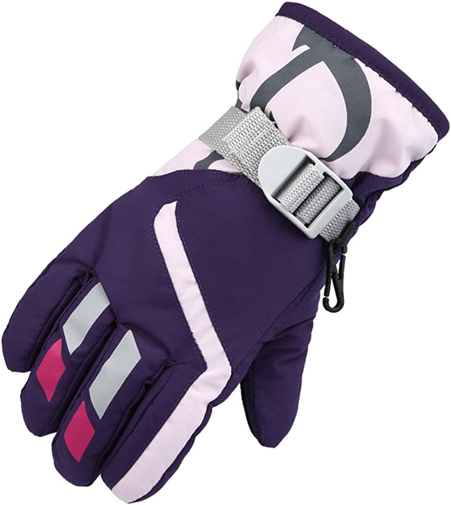Children's Mittens Children's Winter Skiing Waterproof Thickened Mountaineering Riding Warm and Windproof Gloves