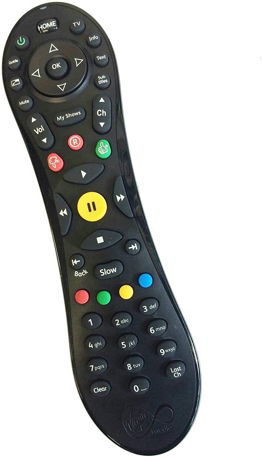 Virgin Media TiVo Remote 100% Genuine, WITH 2 X AA BATTERIES INCLUDED:  Amazon.co.uk: Electronics & Photo