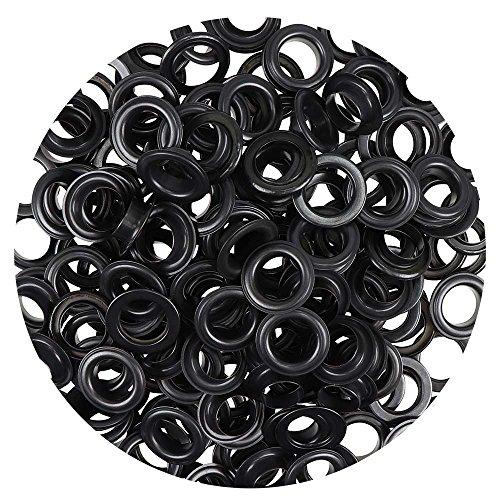 Großpackung Ösen 14 mm Inhalt 100 Stück für Leder Planen Zelte Kleidung (brüniert)