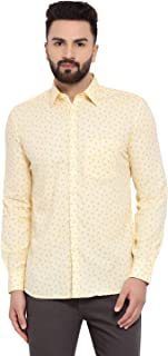 Crimsoune Club Yellow Printed Men's Shirt