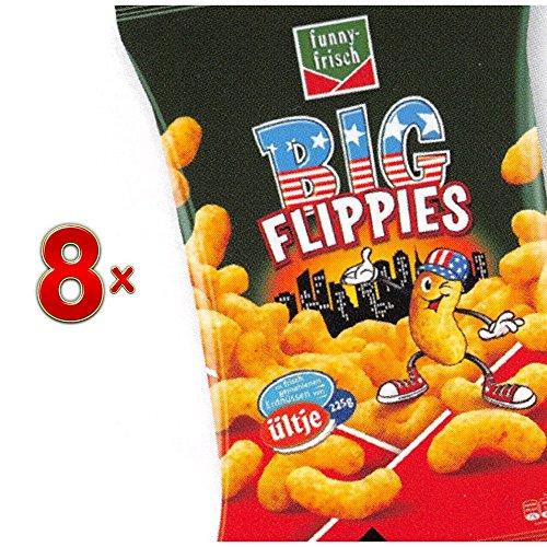 Funny Frisch Big Flippies 8 x 225g Tüte (Funny-Frisch Erdnussflips)