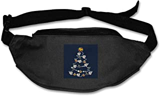 Fanny Pack For Women Men Danger Mouse Christmas Tree Baubles Waist Bag Pouch Travel Pocket Wallet Bum Bag For Running Cycling Hiking Workout