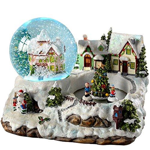 WeRChristmas–Village Scene Cambia de Color Globo de Nieve de Navidad, de plástico, 155cm, Multicolor