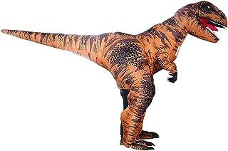 HUAYUARTS Men's Dinosaur Inflatable Costume Super T Rex Boys Blow up Halloween Christmas Cosplay Fancy Dress, Super T Rex-brown, Adult