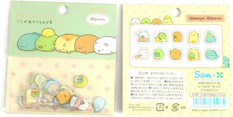 FYstar Creative Cartoon Cahier Autocollants 80 Pi/èces D/épartement Japonais Coin /Étudiant R/écompense Autocollants PVC Mat/ériel Color/é /& Cirque
