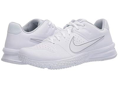 Nike Alpha Huarache Varsity Turf (White/White) Men