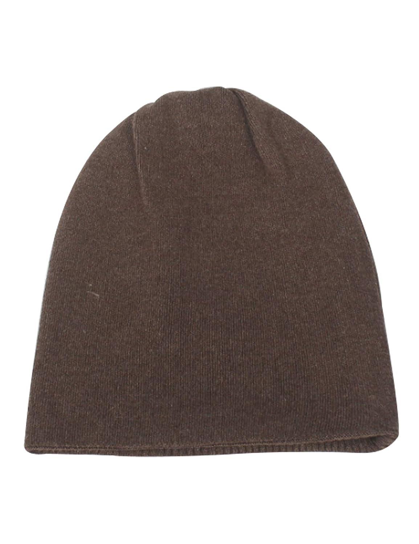 ドレスヌー 帽子 ニット 防寒 折り返し 無地 伸縮性 ユニセックス ソフト レディース