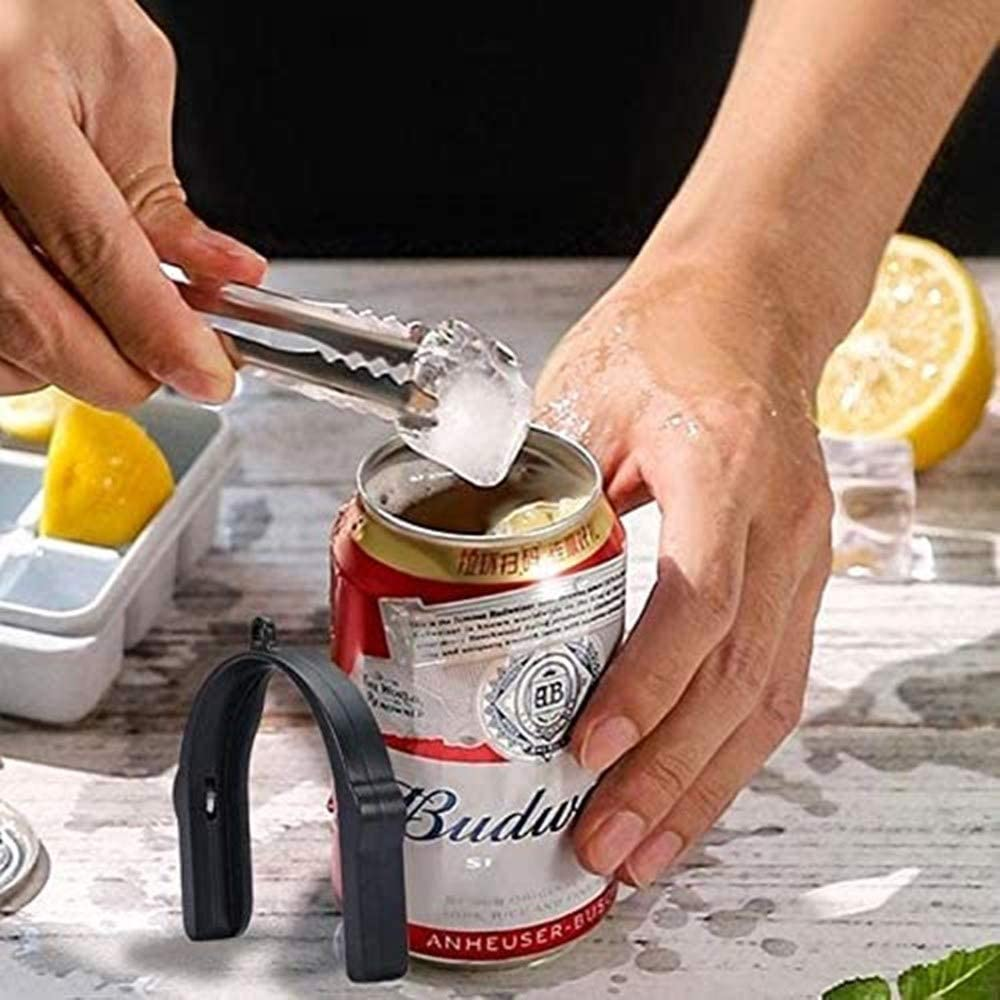 gris Go Drink Can Opener Beer Bar Tool Kitchen Accessories Topless Can Opener Hand Tool Easy to Take Beer