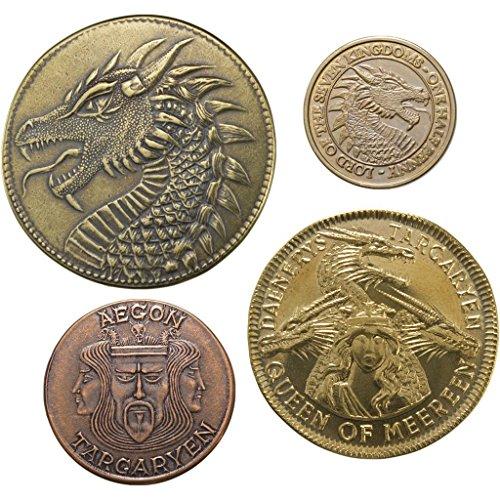 The Shire Post- Game of Thrones Set 4 Münzen Haus Targaryen, Mehrfarbig (SPMI-GM-TA-HS4) , Farbe/Modell Sortiert