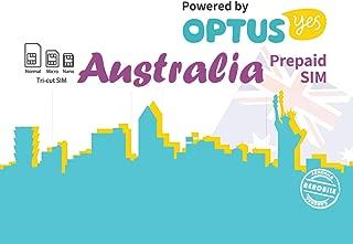 Australia Prepaid SIM Card Unlimited Calls/SMS + Internet Data(Optus Network) (28 Days_Unlimited)