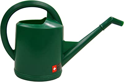 Dramm 12474 10-Liter Molded Plastic Swiss Watering Can with Injection, Hunter Green