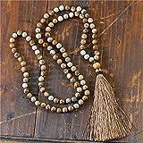 108 collana mala handmade 8mm collana in pietra naturale in pietra naturale con nappa yoga meditazione necklace regali gioielli religiosi donne