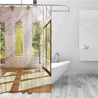 Shower Curtain Water Resistant Standard Shower Bath Curtain for Bathroom, Shower, Bathtub, 72 inch Long, 36