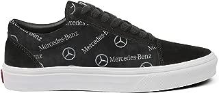 Young Men Canvas Shoes Low-Cut Straps Unique Mercedes-Benz-Price-Gray-Logo- Sneakers Suitable for Walking