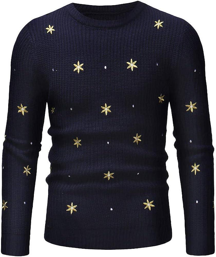 MODOQO Men's Long Sleeve Crewneck Warm Soft Pullover Sweatshirt Outwear